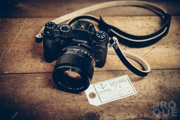 BRONKEY Pentax Leica Canon Olympus Fuji Nikon etc Brown Leather Camera Strap for compact and mirrorless cameras like Sony Fujifilm