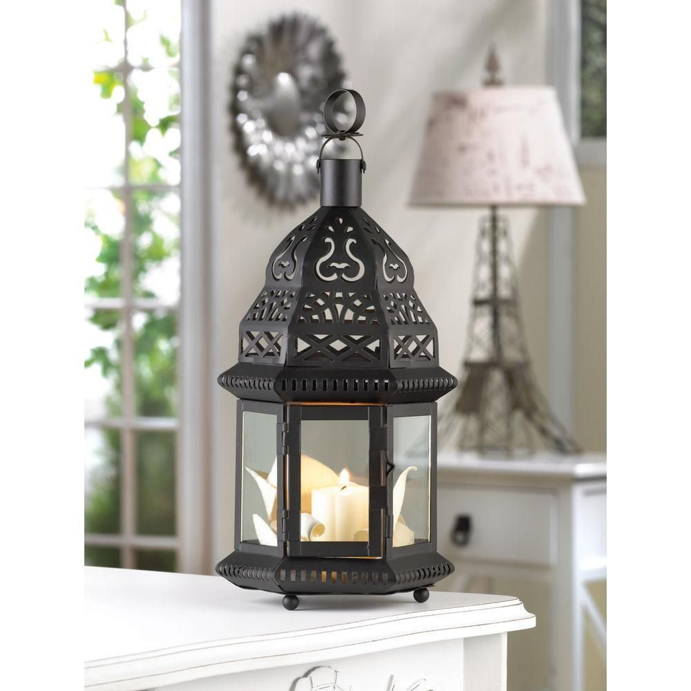 New Moroccan Birdcage Lantern Starlight Pattern Candle Lamp Exotic Garden  Home #HomeLocomotion
