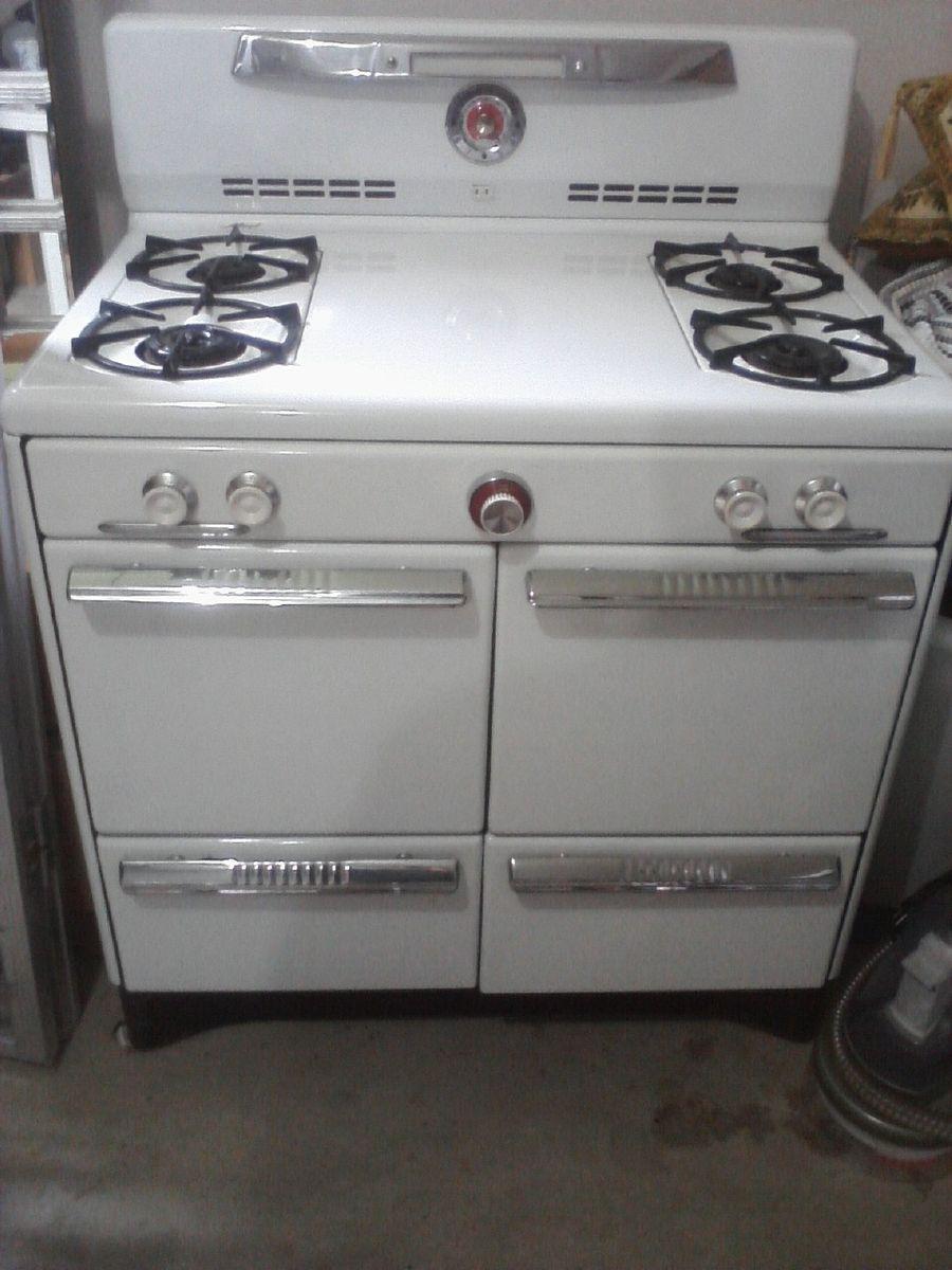 Antique Vintage Magic Chef Gas Range Stove Oven Late 1940s Or 1950s Stoves Range Classy Kitchen Magic Chef