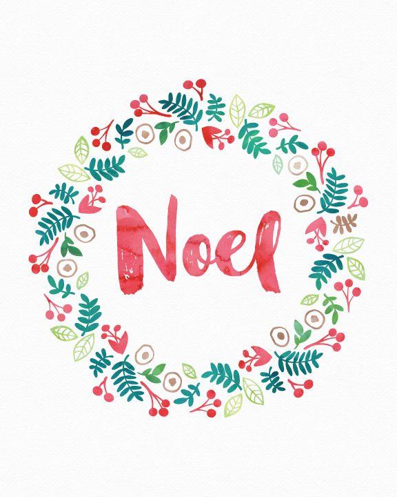 Free Christmas Printable Noel Wreath