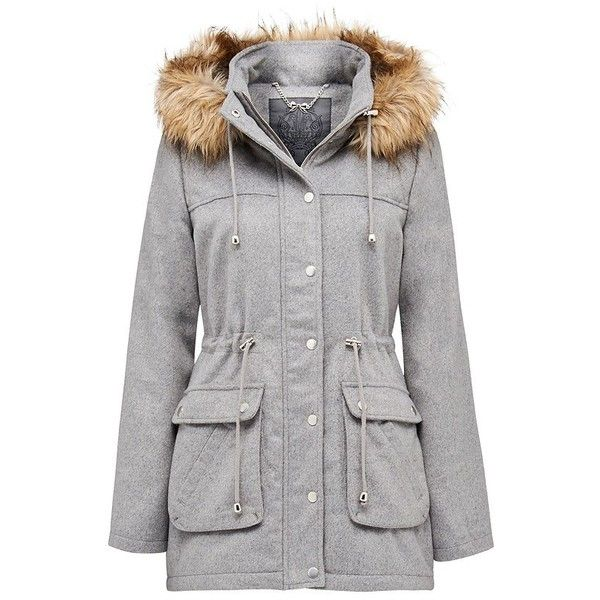 Forever New Emily wool parka ($77) ❤ liked on Polyvore featuring ...