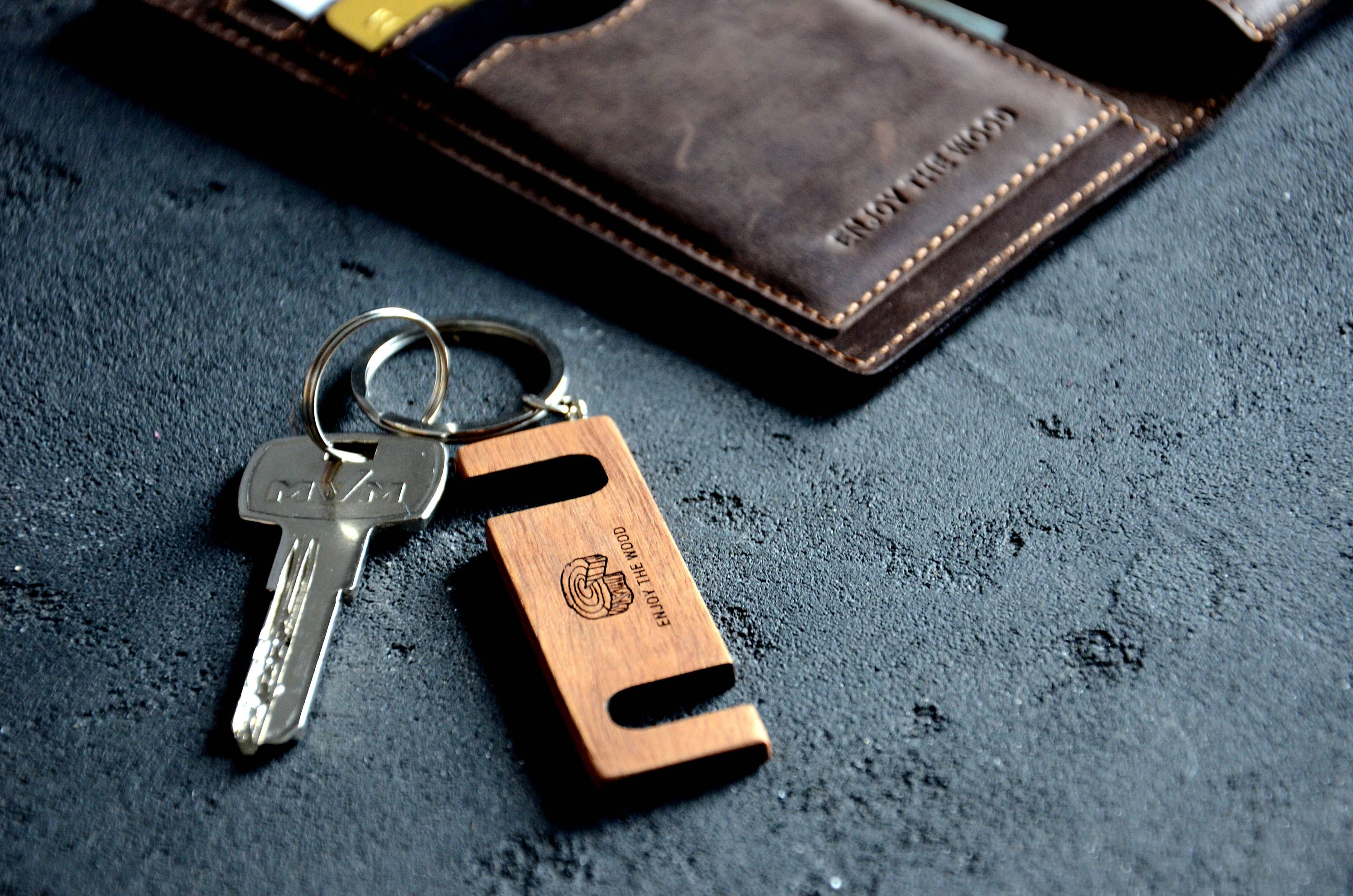 Custom phone stand key chain personalized iphone holder