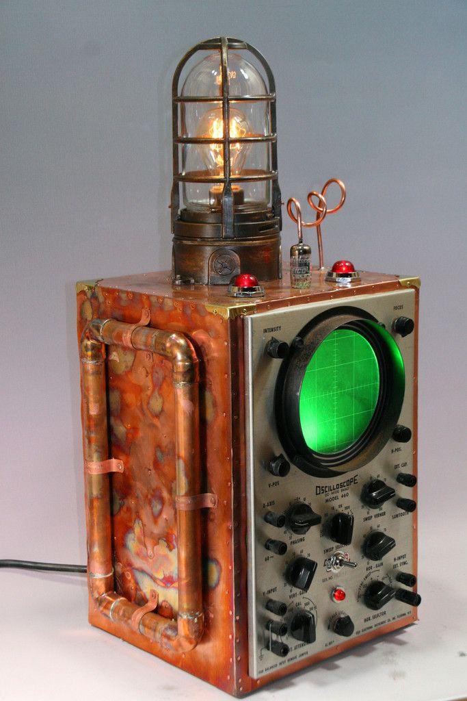 Copper Steampunk Machine Age Submarine Sonar Oscilloscope