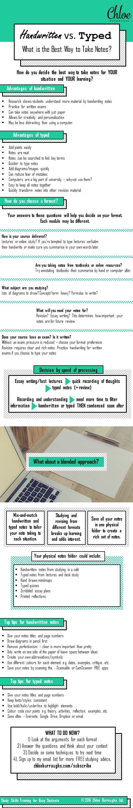 Handwritten or Typed: What is the Best Way to Take Notes