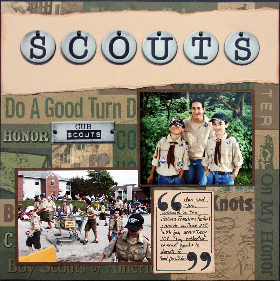 Girl scout scrapbook ideas - Scouts Layout