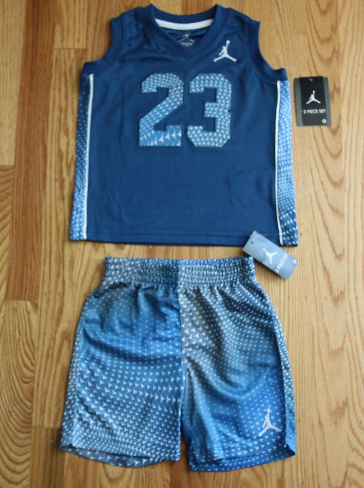 445bccda2b5d63 Nike Air Jordan Toddler Boy Muscle Tank Top   Short Set ~ Size 2T ~ Blue ~   Jordan  Everyday
