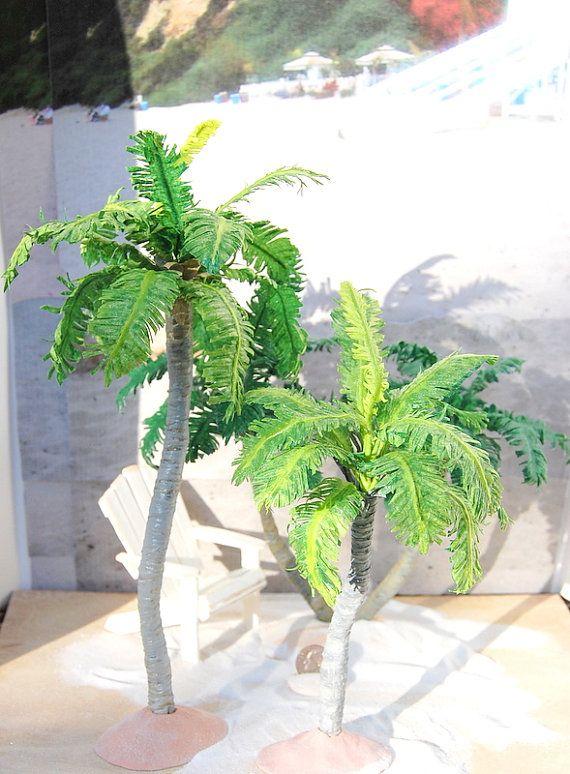 Dollhouse Miniature Royal Palm Tree Set Dollhouse