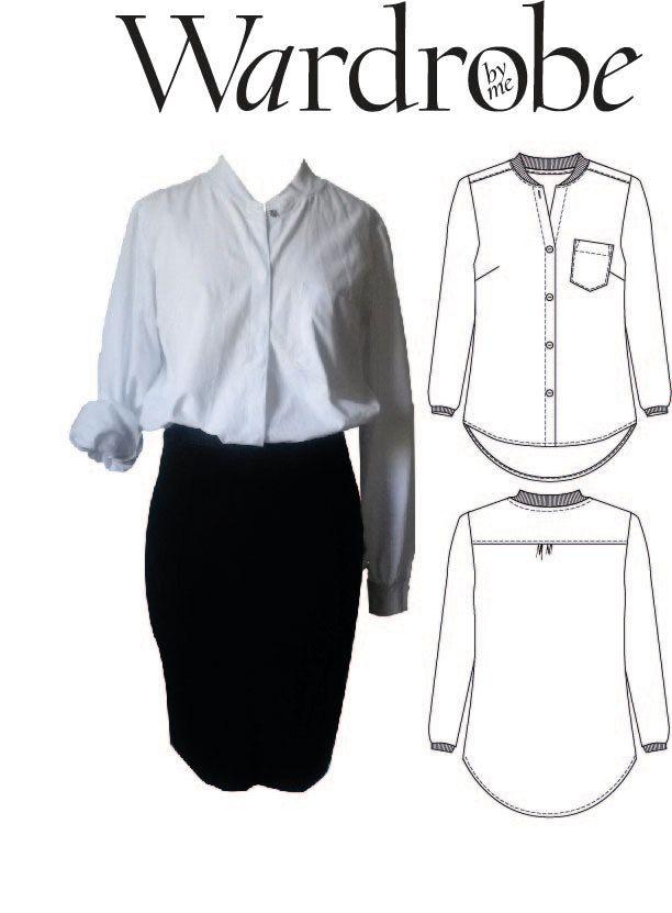 womens collared shirt pattern free