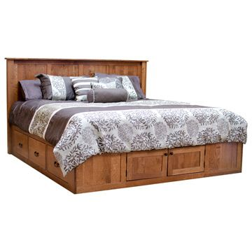 Platform Eastern King Bed W Drawers Bed Frame With Drawers