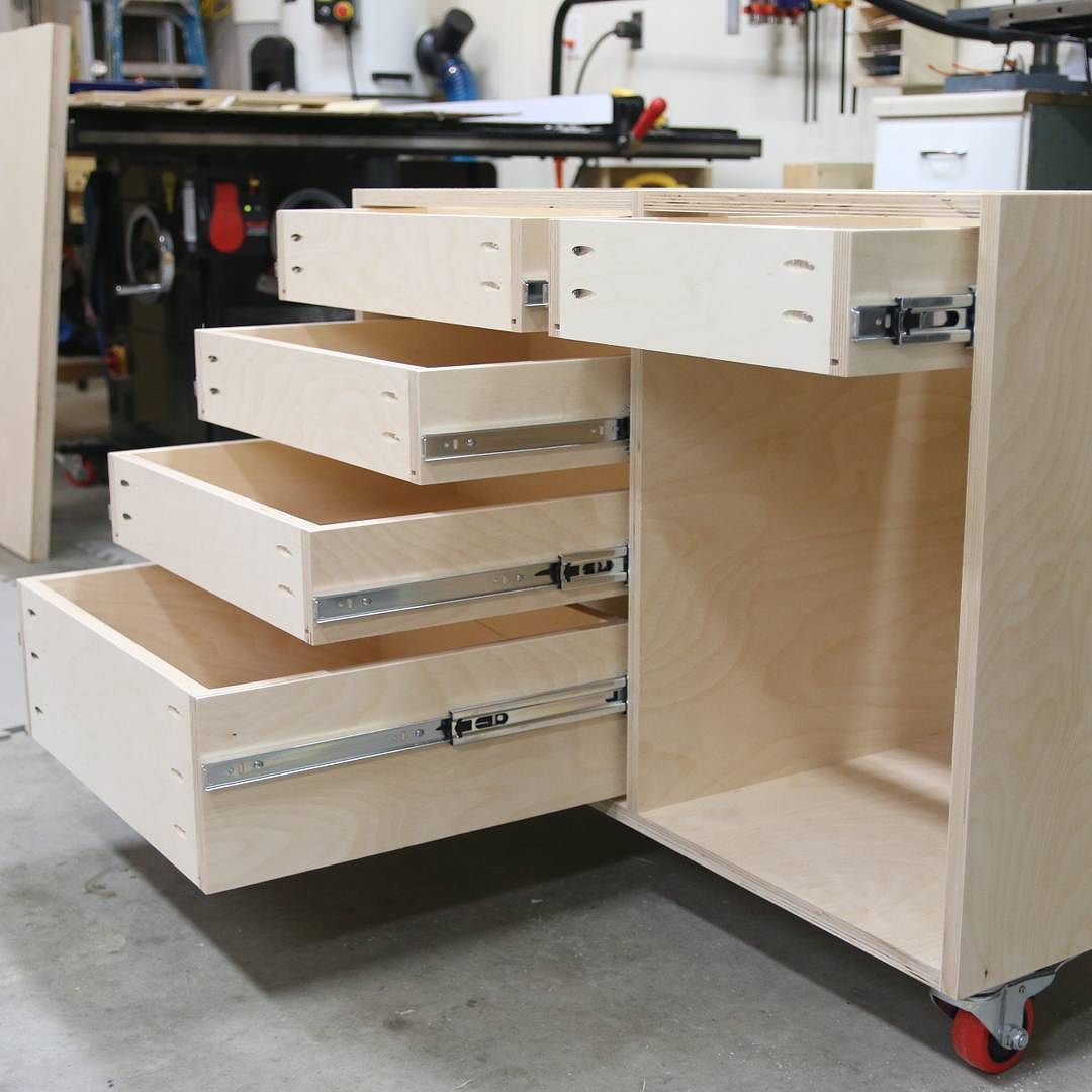 How To Build A Base Cabinet With Drawers Building Kitchen