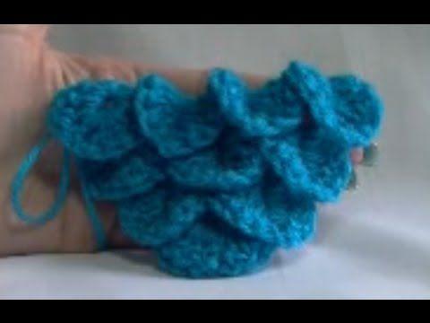 YouTube Tutorial for creating a Crocodile stitch crochet shawl. I\'ve ...