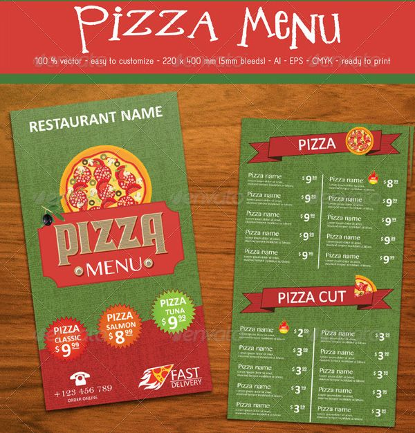Pizza Menu Template - 25+ Free PSD, EPS Documents Download! | Free ...