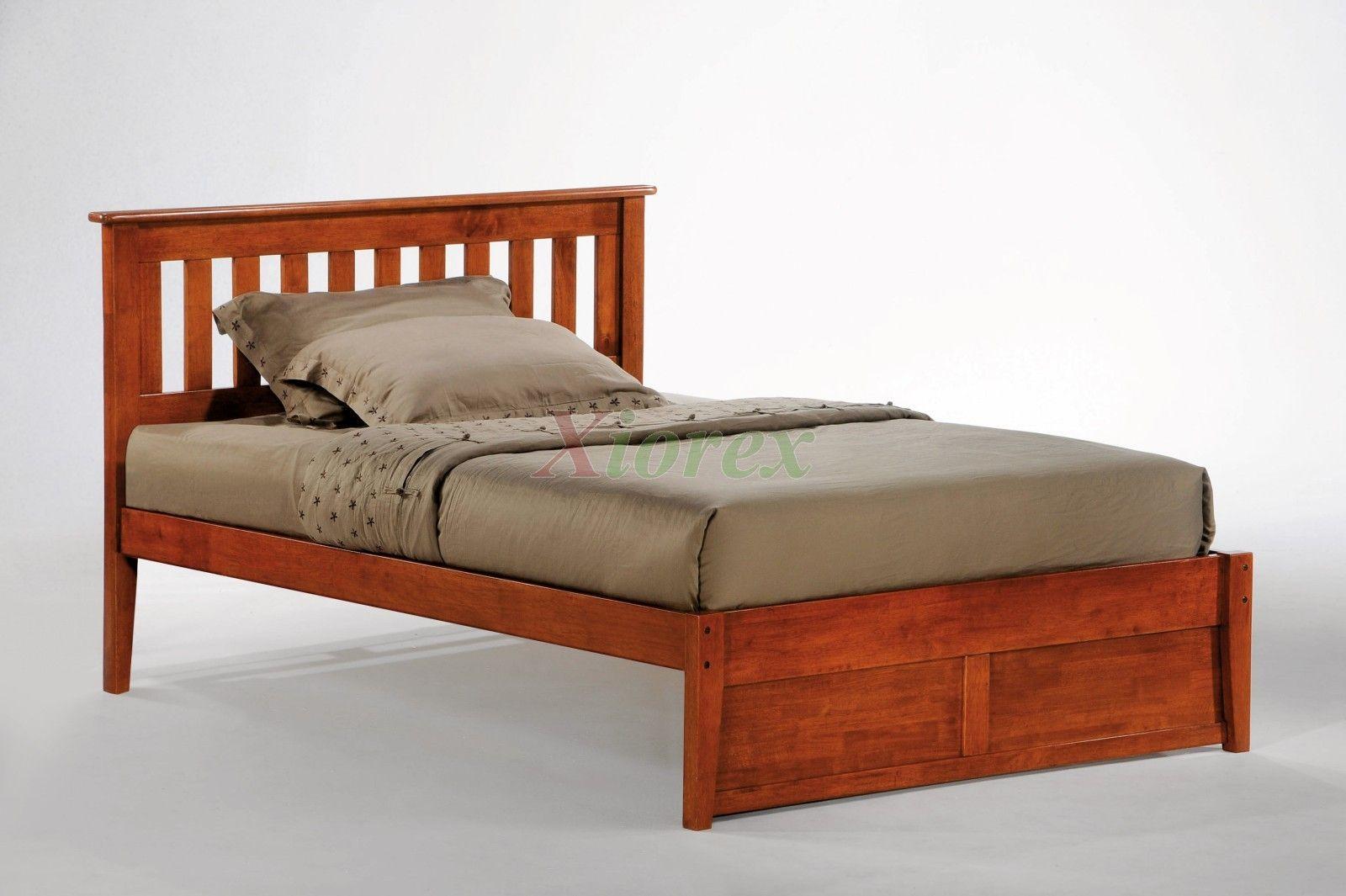 Rosemary Bed Full Size Cherry Slat Headboard Bed Xiorex