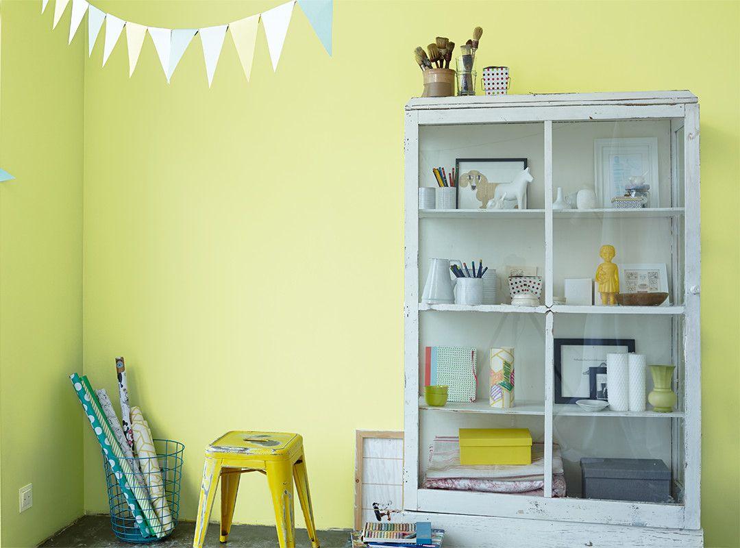 Wandfarbe Arbeitszimmer ~ Mit kühlem gelb ist dieser ton zum beispiel schön in kinderzimmern