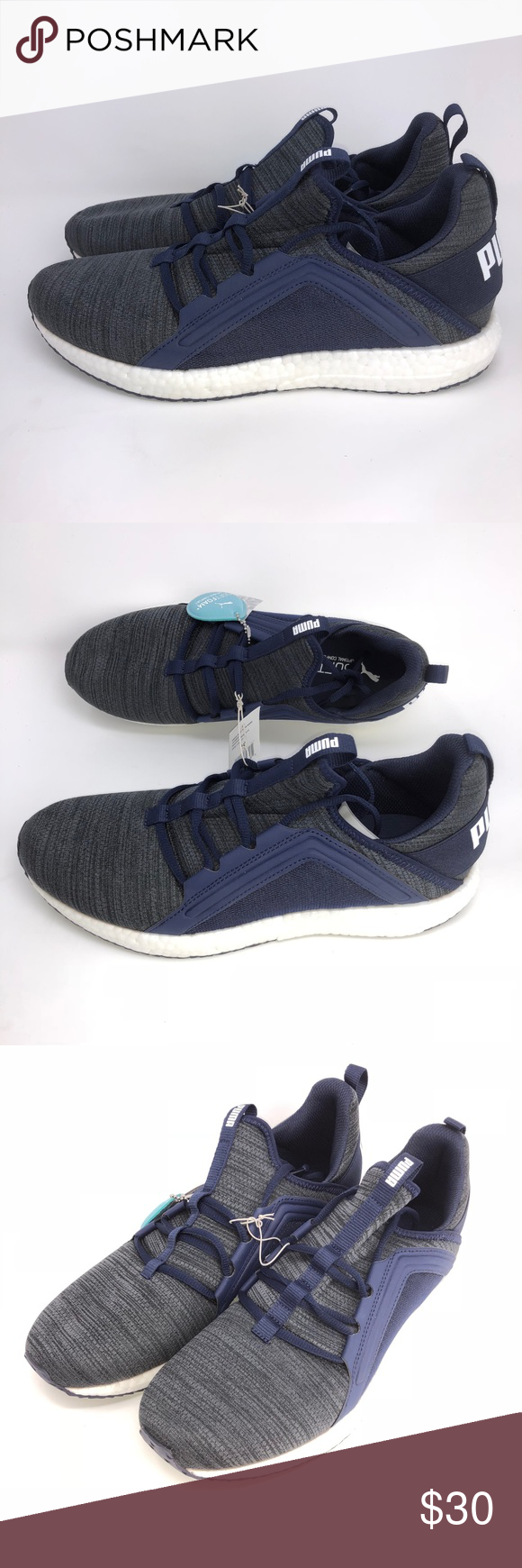 5868d3755406 Puma Mega Nrgy Heather Knit Men's Running Shoes NEW Puma Mega Nrgy Heather  Knit Men's Running Shoes Blue/Gray Size 10 Combination knit and synthetic  upper ...