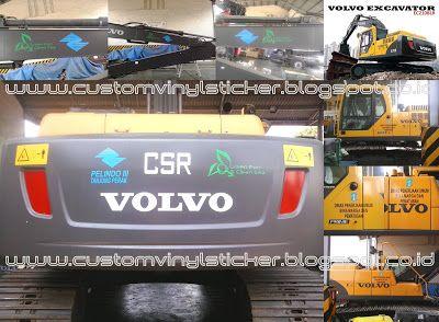 Volvo Excavator EC210BLR - Pelindo III CSR Branding Sticker #VolvoEC210BLR #Branding