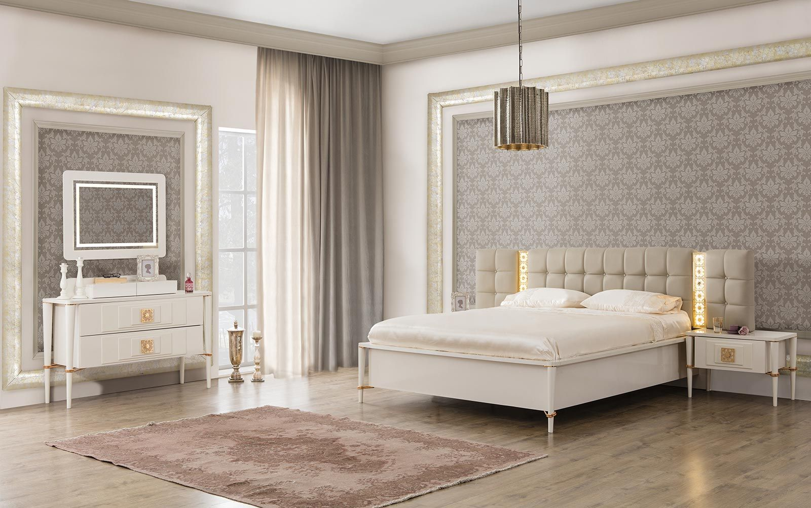 Alessa Yatak Odasi Family Group Design Furniture Bedroom Interior Wholesale Furniture Modern Home Furniture