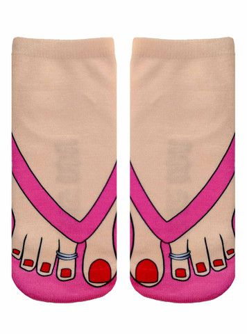 Flip Flops Pale Ankle Socks