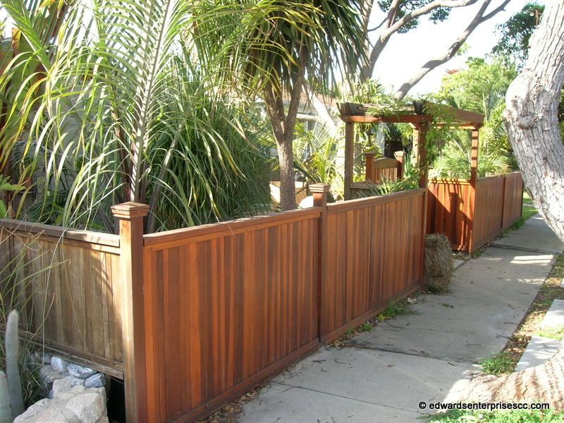 front yard wood fence ideas
