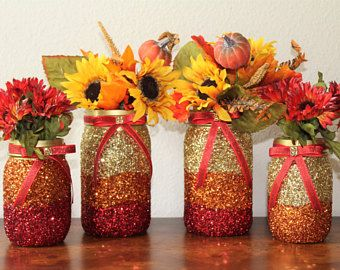 Thanksgiving Table Decorations Fall Decor Glitter