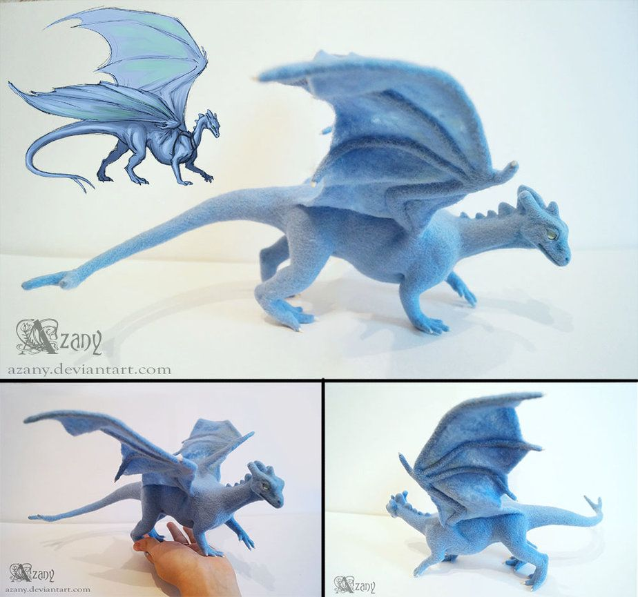Needle felted Pernese dragon by Azany on DeviantArt
