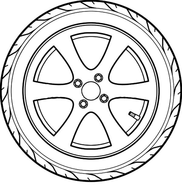 Car Tire Coloring Pages Toddler Games Cars Mechanic