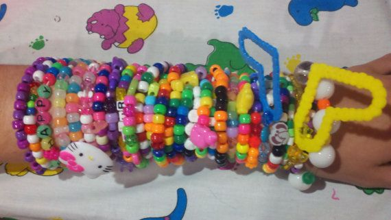 Kandi Bracelets  BIG Grab Bag by coleydinosaur on Etsy