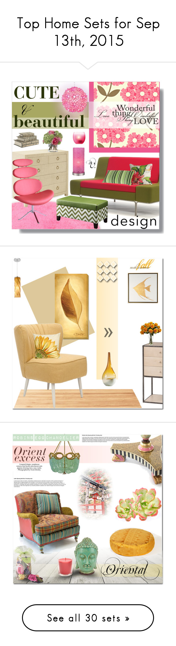 """""""Top Home Sets for Sep 13th, 2015"""" by polyvore ❤ liked on Polyvore featuring interior, interiors, interior design, home, home decor, interior decorating, TOM TAILOR, Serena & Lily, Orla Kiely and Elvang"""