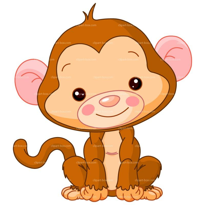 Baby Monkey Clip Art | CLIPART BABY MONKEY | Royalty free vector ...