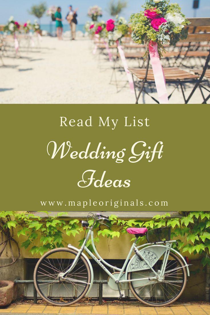 Fun list of wedding gift ideas as we enter the wedding season most