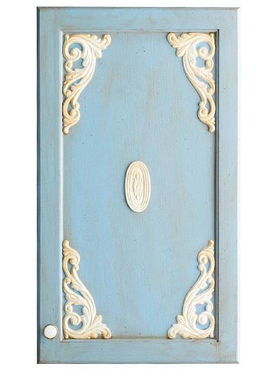 Wooden Appliques Can Be Easily Painted And Attached To Cabinet Doors With  Wood Glue. These Simple Embellishments, Along With A Little Paint, Can Add  Cottage ...