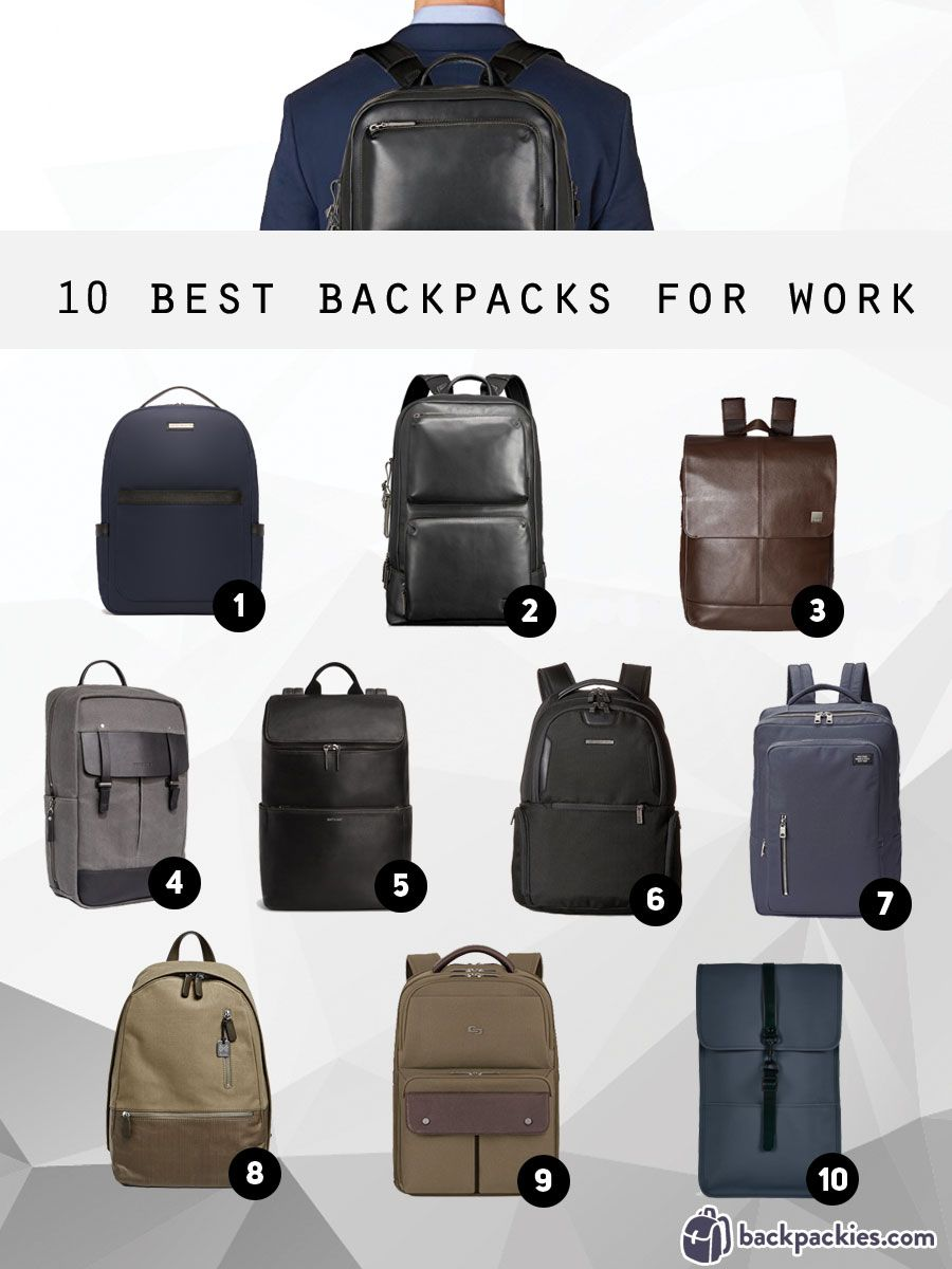 b6c1b4186 Our top 10 picks for the best backpacks for work that are professional yet  stylish.