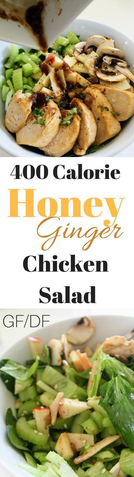 400 calorie honey ginger chicken salad  recipe  ginger
