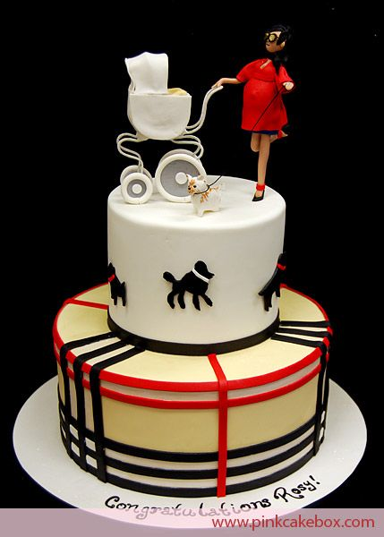 pregnant woman cakes | Pregnant Mommy Cake Toppers » Pink Cake Box Wedding Cakes & more