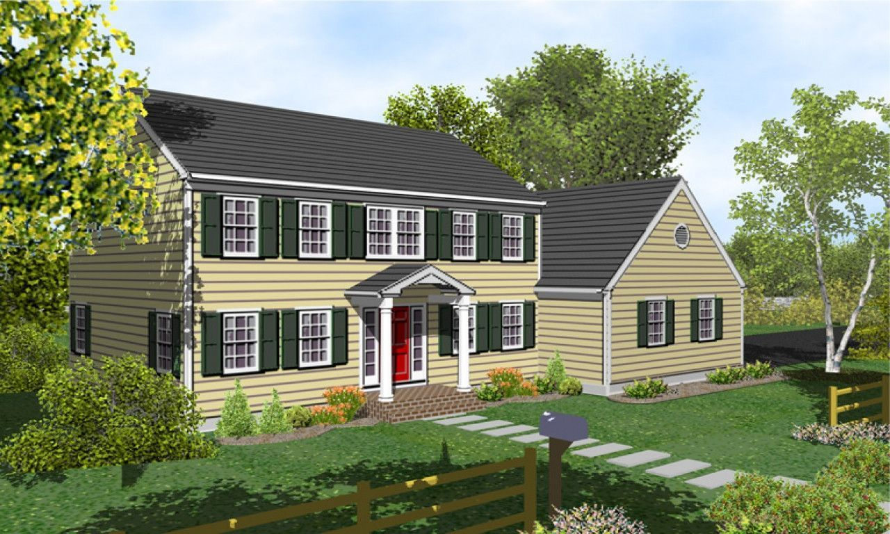47 New England Colonial Home Exterior Colonial House Plans