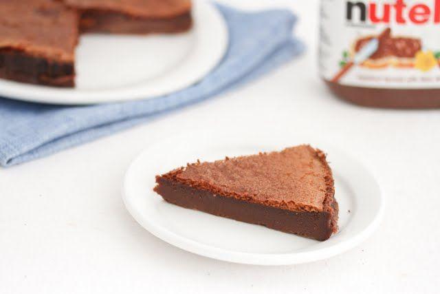 Two Ingredient Flourless Nutella cake | Recipe | Easy Peasy