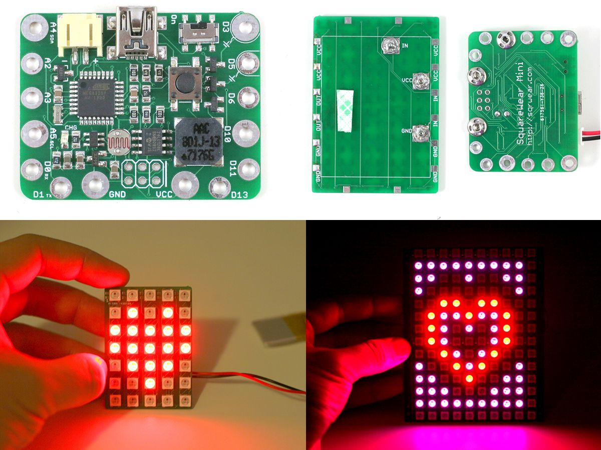 Introducing Squarewear Mini With All New Chainable Color Led Matrix Electronic Circuit Design Open Source Explore Circuits And More