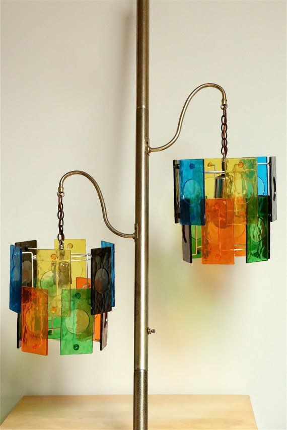 SUPER SALE ~ Vintage MCM Tension Pole Lamp, Funky, Mod, Hippie, Groovy,  1970s