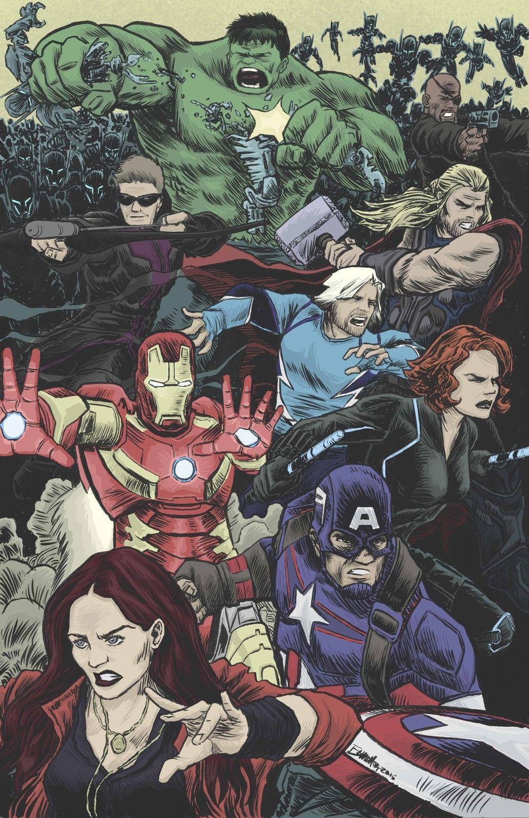 #Avengers #Fan #Art. (Avengers Age of Ultron) By: Jerry Bennett. (THE * 5 * STÅR * ÅWARD * OF: * AW YEAH, IT'S MAJOR ÅWESOMENESS!!!™) ÅÅÅ+
