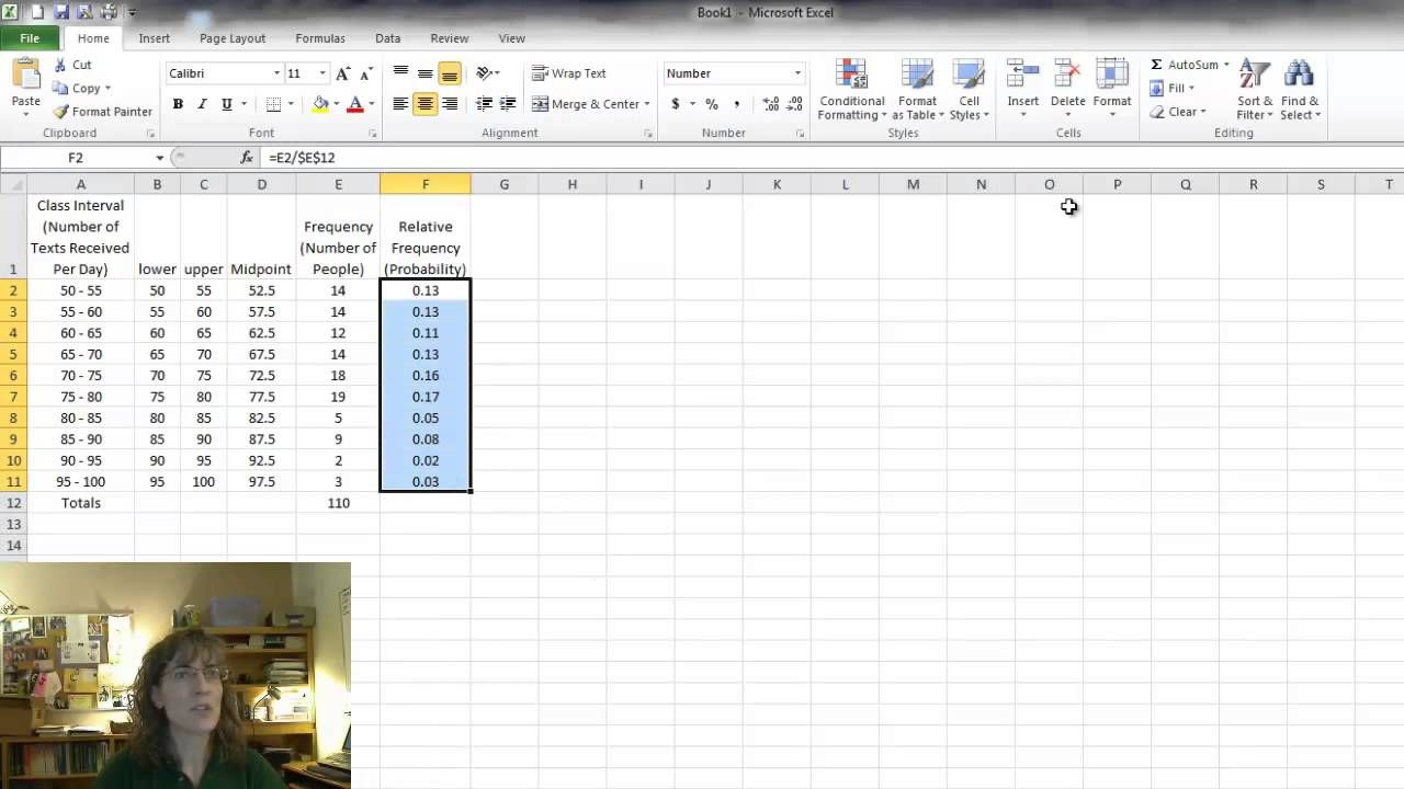 create frequency histogram in excel 2007