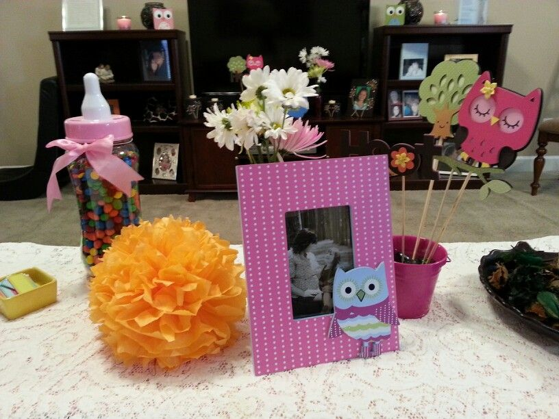 Owl themed baby shower decor idea baby shower pinterest themed baby showers - Owl themed bathroom decor ...
