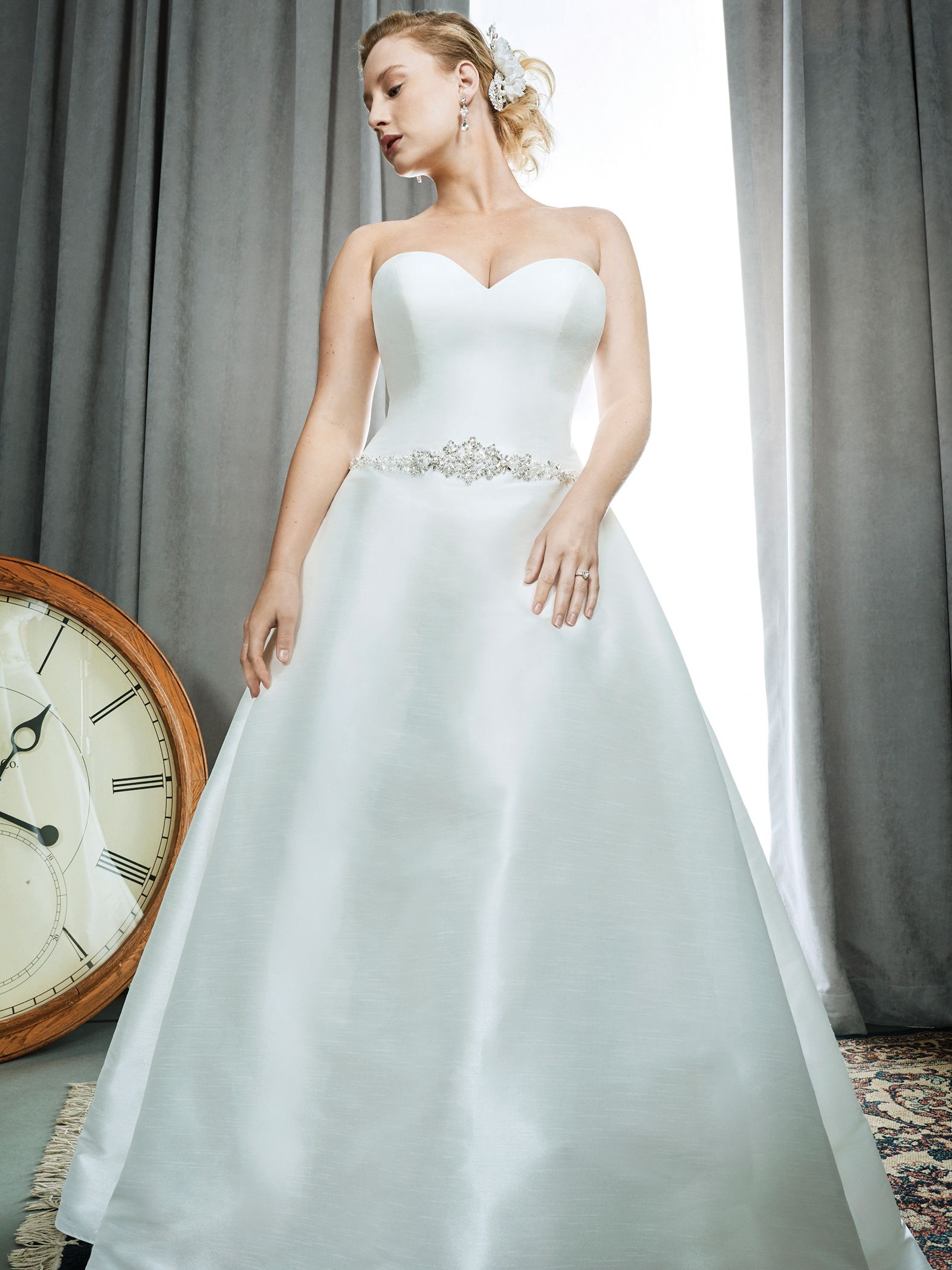 Femme by Kenneth Winston Style 3392 | sleek luxe mikado bridal dress ...