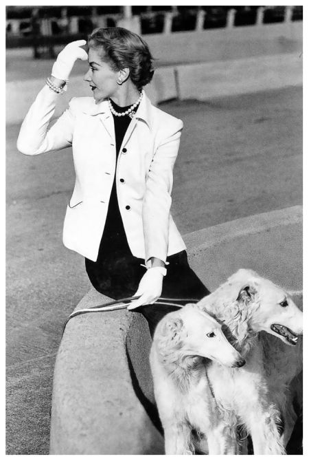 Lisa Fonssagrives in jacket and dress by Vernon, photo by Frances McLaughlin-Gill, New York, Vogue, May 1,1950