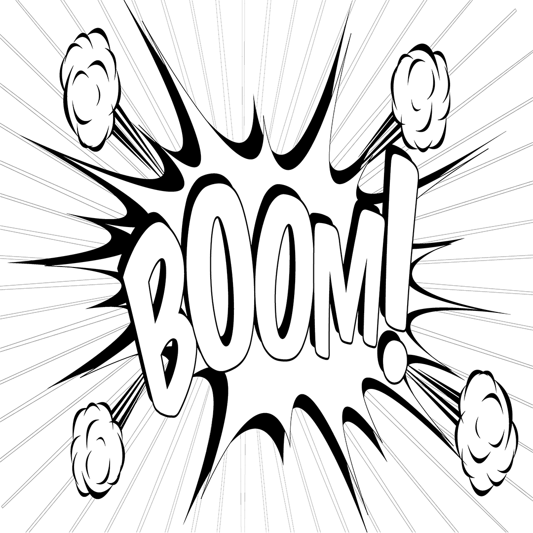 Comic Coloring Book Inspired by Comics! I Love Onomatopoeia! Enter ...