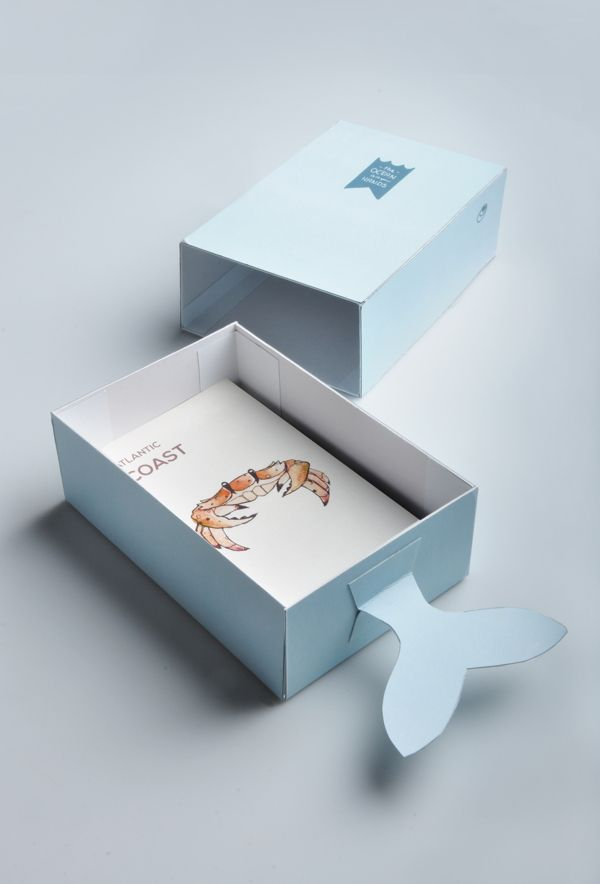 Marine Life Pamphlets by Dylan Wright, via Behance