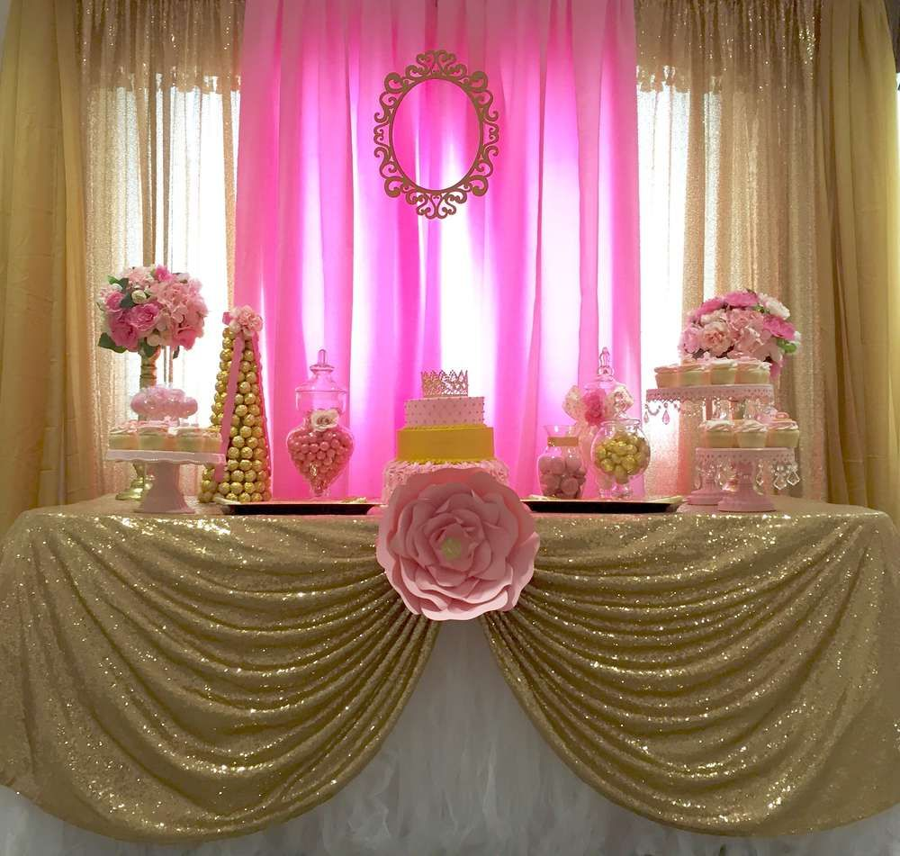 little princess baby shower party ideas princess baby. Black Bedroom Furniture Sets. Home Design Ideas