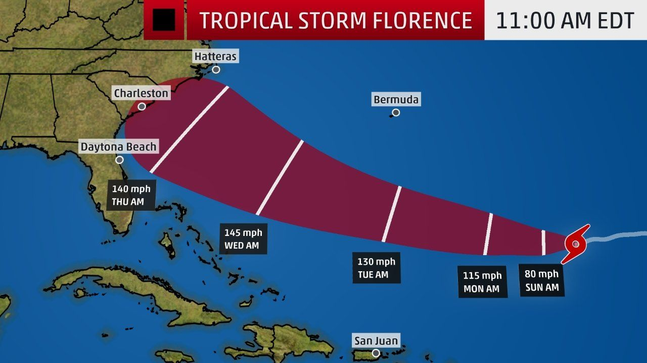 Up To 40 Inches Of Rain From Florence To Trigger Catastrophic Flooding Tropical Storm Storm Hurricane