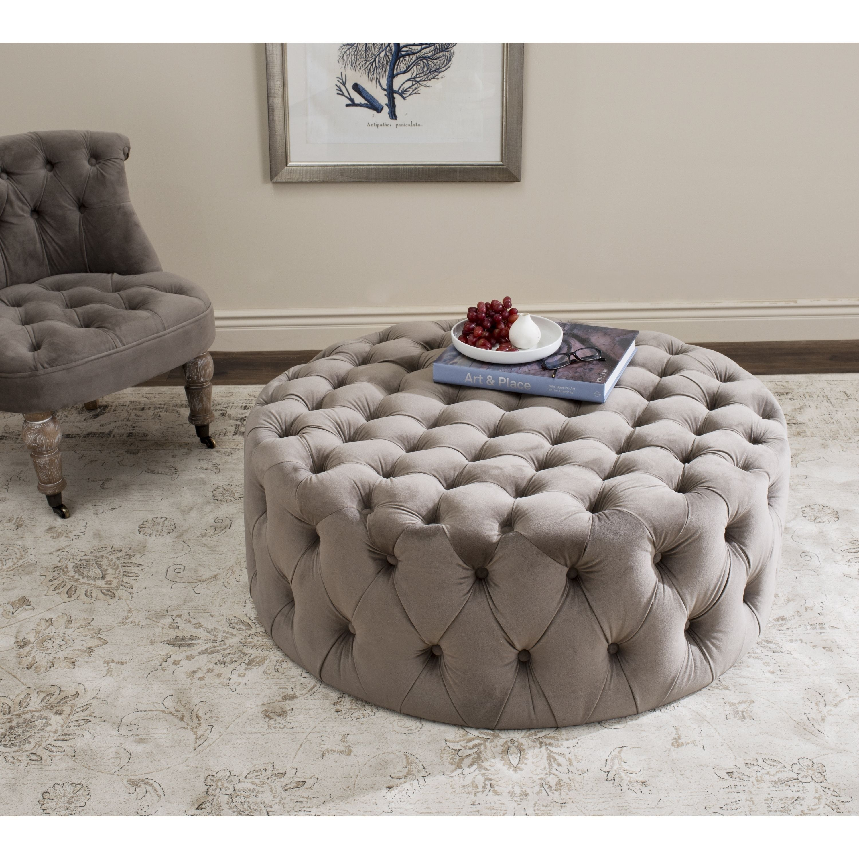 The epitome of 1930s Hollywood glamour, this luxe ottoman is ...