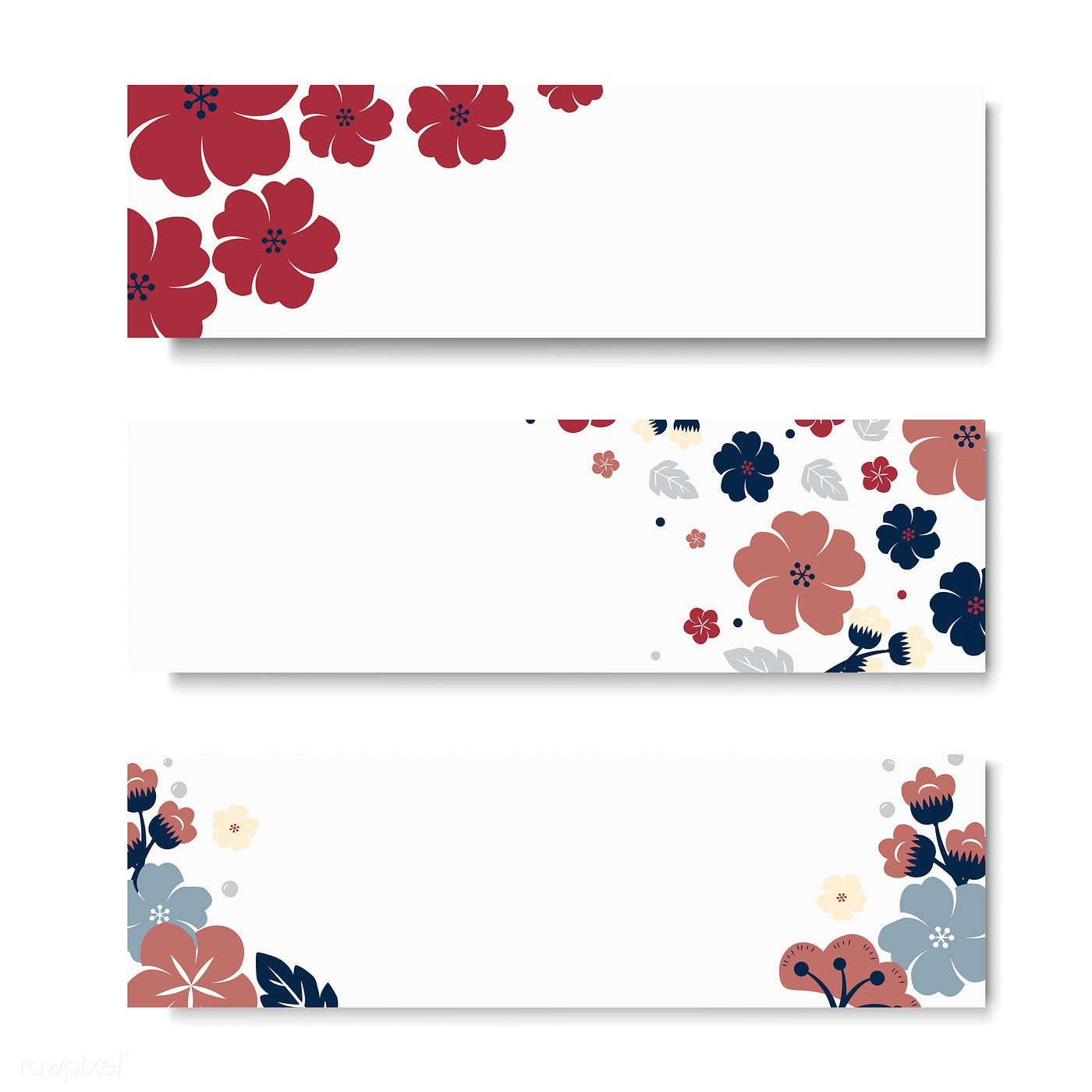 Flowers Border Rectangle Card Template Vector Free Image By Rawpixel Com Kappy Kappy Vector Free Vintage Flowers Wallpaper Card Template