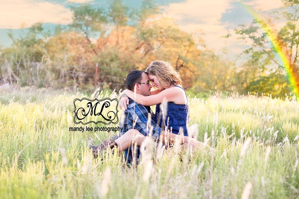 Couples on location session with a rainbow https://www.facebook.com/pages/Mandy-Lee-Photography/113937515377935